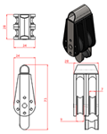 JS2P36 Double Pulley Block