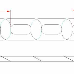 Flat Twist Link Chain