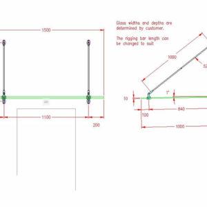 Oval Type Bracket - No Glass Supplied