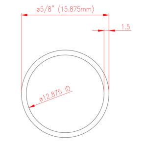 Stainless Mirror Handrail Tube