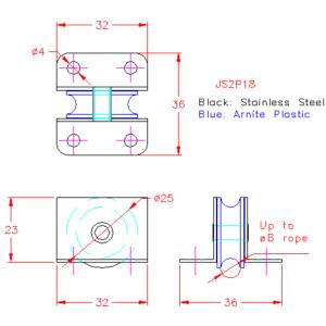 Deck lead block