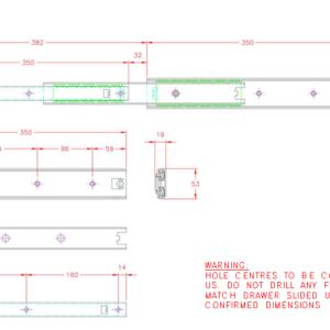 Full Extension Drawer Runner