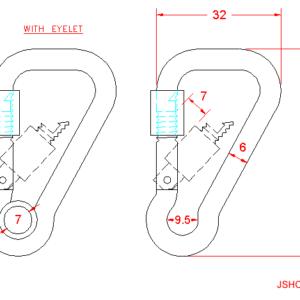 Asymmetric Carbine Hook with Screw Nut