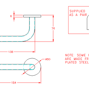 Unsprung Straight Lever Handle