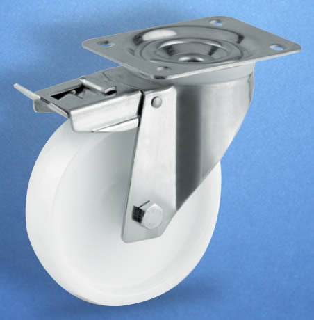 Swivel Castor Bracket with Brake