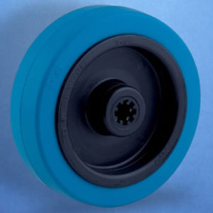 Blue Elastic Rubber Tyre Castor Wheel