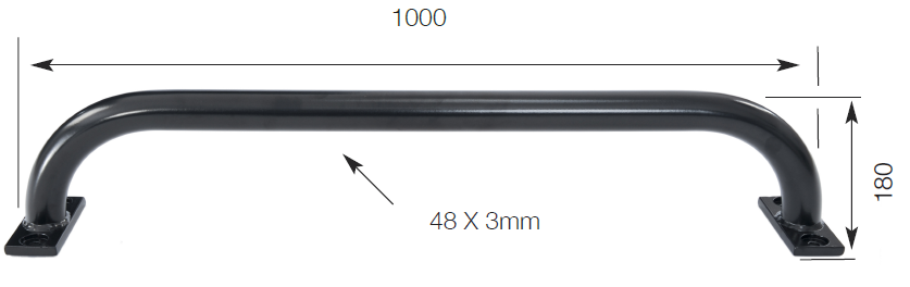 Bolt to Wall Security Rail
