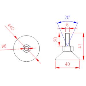 Adjustable Levelling Feet - Nylon Base