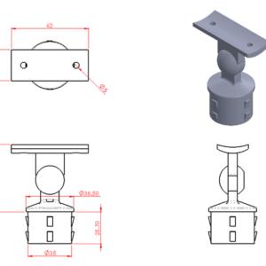 Adjustable Saddle Post
