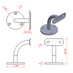 JSLA67 Wall Arm Bracket