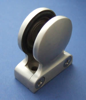 Flat-back Button Glass Clamp for 10mm Glass