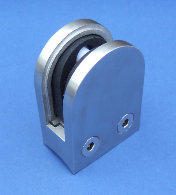 Round-back D Glass Clamp for 10mm Glass