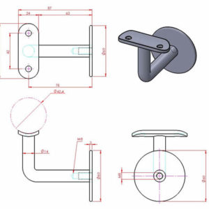 Hidden Fixing Wall Bracket