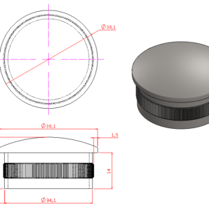 Shallow Dome End Cap