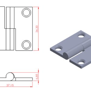 Two Part Hinge Right-Hand