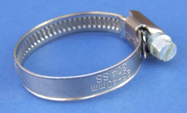 9mm wide Worm Drive Hose Clamp