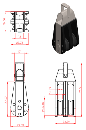 Double Pulley Block
