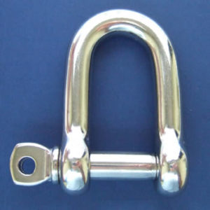 D Shackle with Screw Collar Pin
