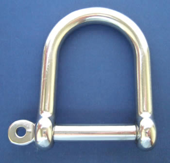 Wide Jaw D Shackle with Screw Collar Pin
