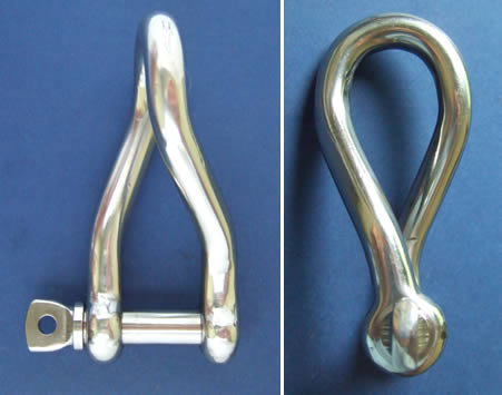 Twisted Shackle with Screw Collar Pin