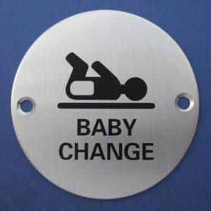 Baby Change Door Sign
