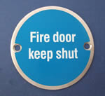 JSJ07 Fire door keep shut - Door Sign