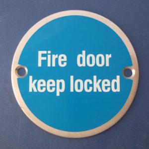Fire door keep locked - Door Sign