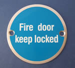 JSJ08 Fire door keep locked - Door Sign