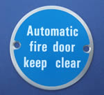 JSJ09 Automatic fire door keep clear - Door Sign