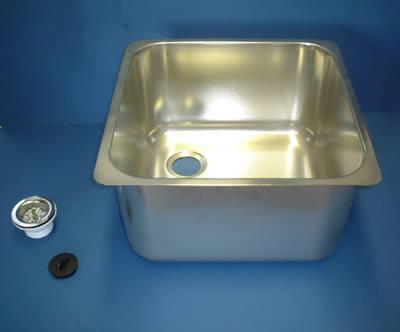 Square Weld In & Undermount Sink