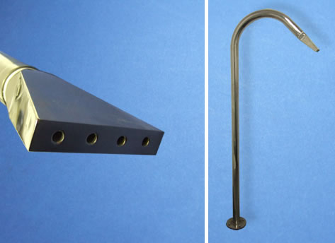 Poolside Spa Shower - Flat 4 Hole Nozzle
