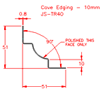 JS-TR40 Cove Edging