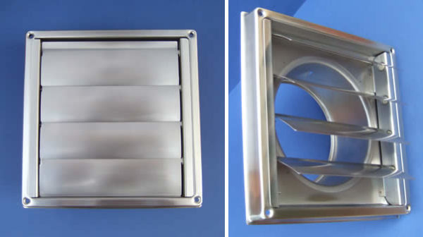Square Wall Outlet Vent, with gravity flaps